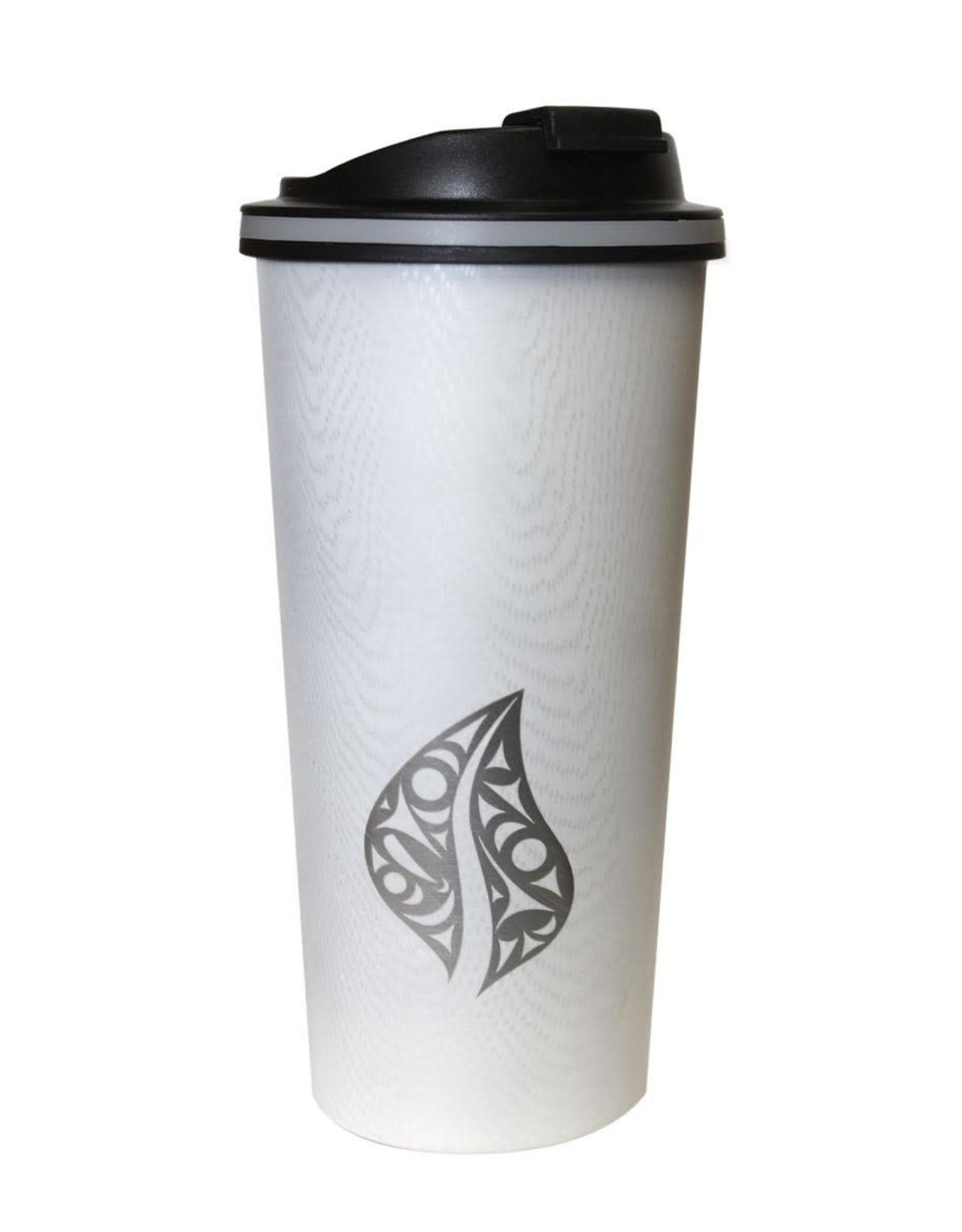 Travel Mug- Wood Grain style.