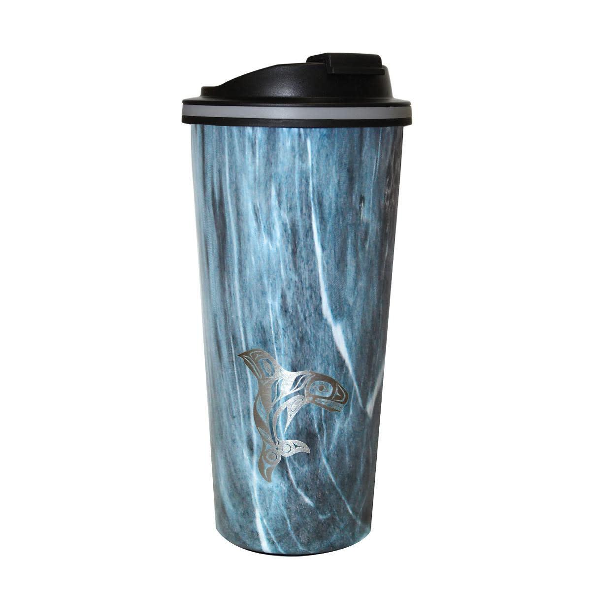 Travel Mug- Wood Grain style.-4