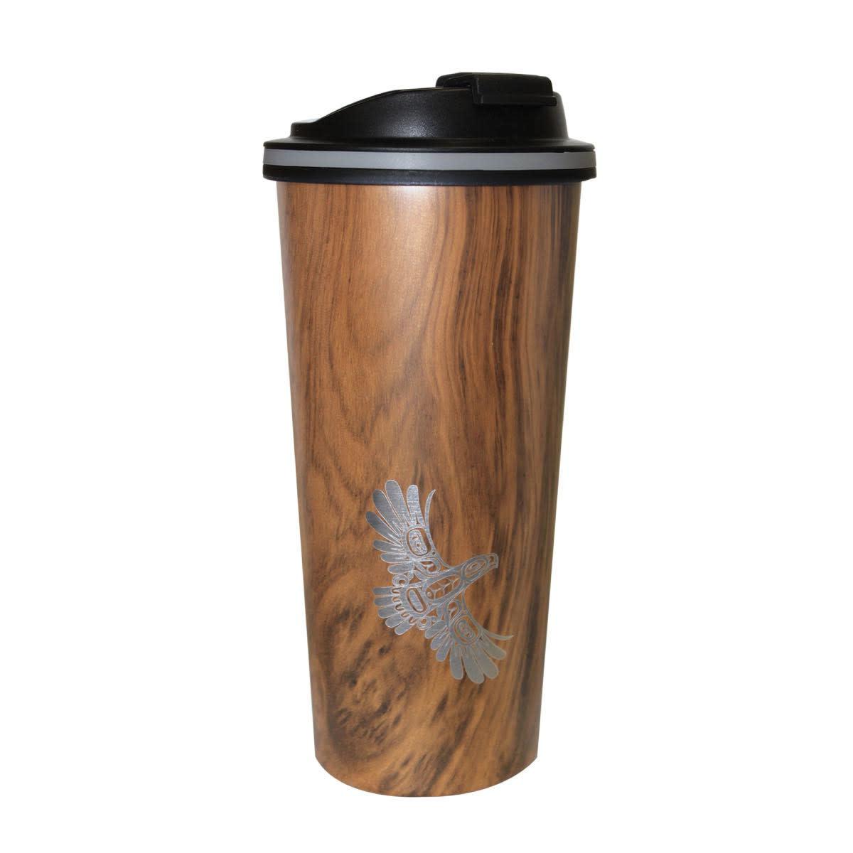 Travel Mug- Wood Grain style.-5