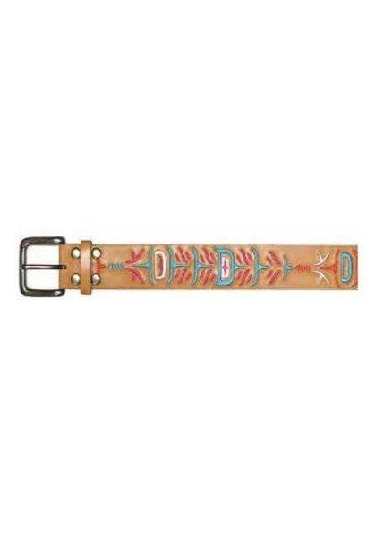 Ladies Leather Belt - Feathers by Simone Diamond