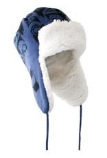 Knitted Flap Hat Frog by Bill Helin/ Blue & Black