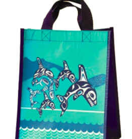 Eco bag small- Orca Family by Paul Windsor