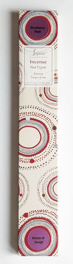Sequoia Hand Dipped Incense 20 sticks - Blackberry Sage-1