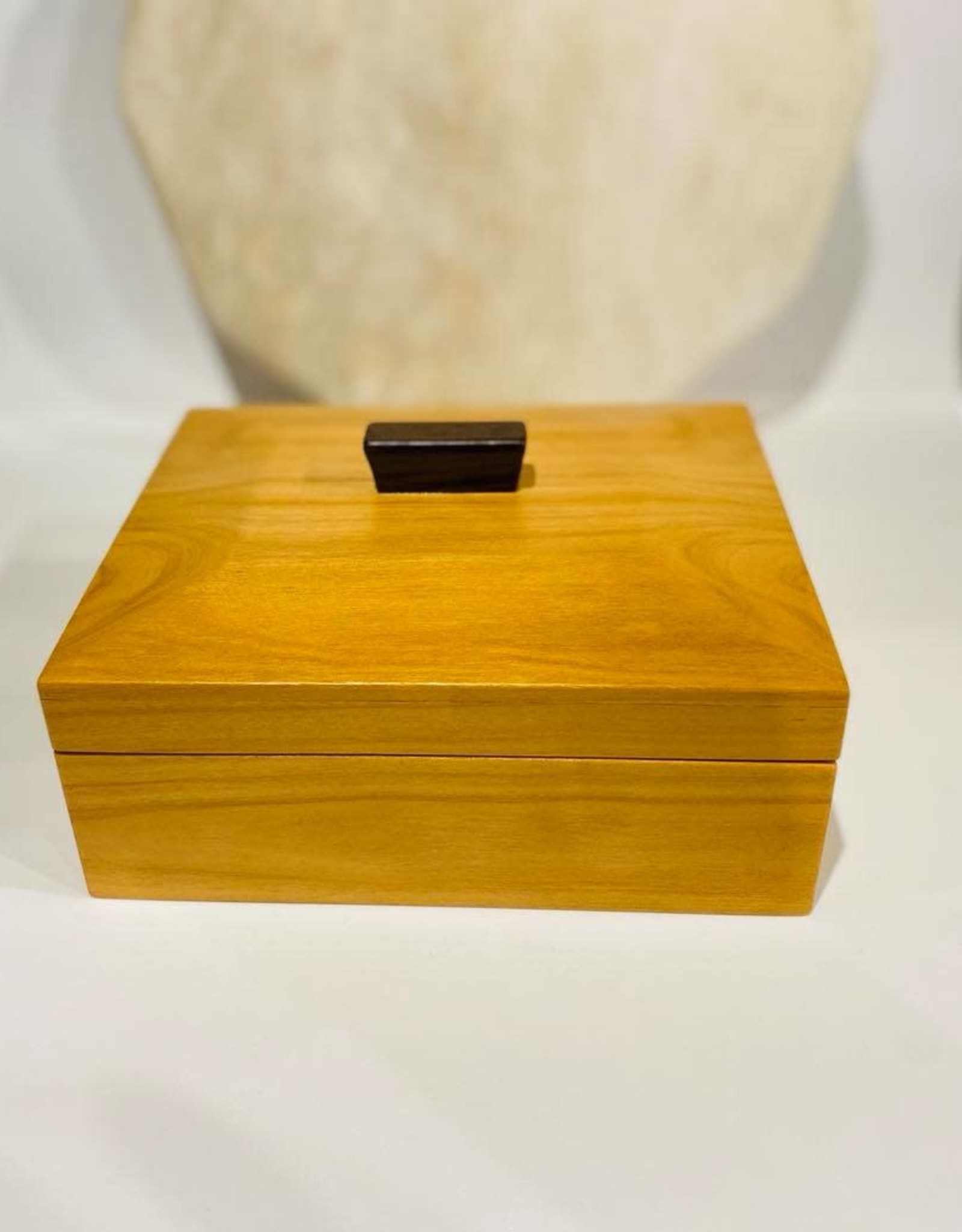 "Hand Crafted ""Berma Teak"" box"