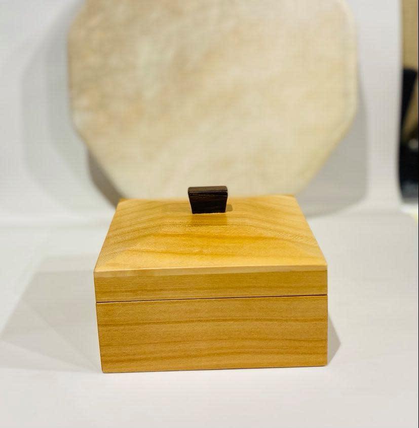 "Hand Crafted ""Cherry Wood"" box-1"