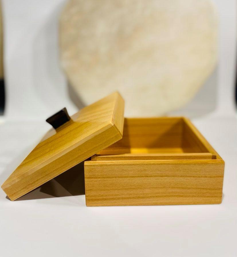 "Hand Crafted ""Cherry Wood"" box-2"