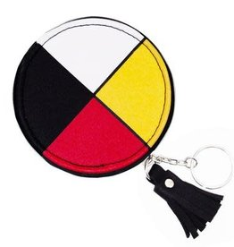 Round Coin Purse Medicine Wheel design