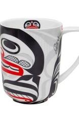 Porcelain Mug-Killer Whale Crosshatch design by Cory Wilson