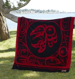 Kanata Blanket-Raven/ Red by Bill Helin