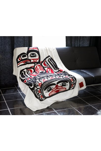 Kanata Blanket-Children of the Raven by Bill Reid