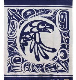 Kanata Blanket-Eagle (Navy) by Bill Helin