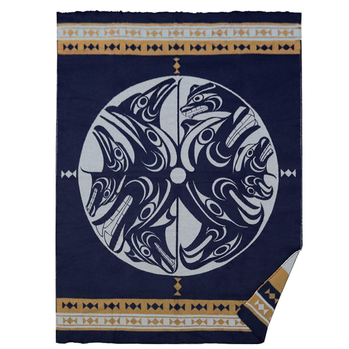 Woven Blanket-Harmony by Francis Horne Sr.-1
