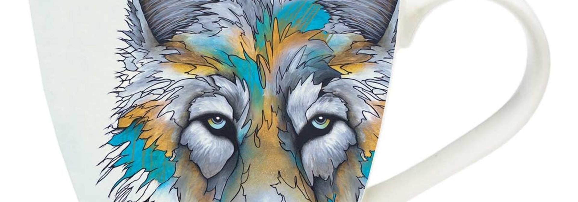 Artists mug - Alpha (Wolf) by Micqalea Jones