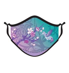 Reusable 4 ply  Face Mask- Hummingbird & Blossoms by Simone Diamond
