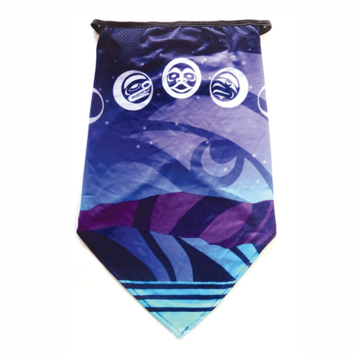 Bandana Gaiter with ear loops-Moon Phases by Maynard Johnny Jr.-1