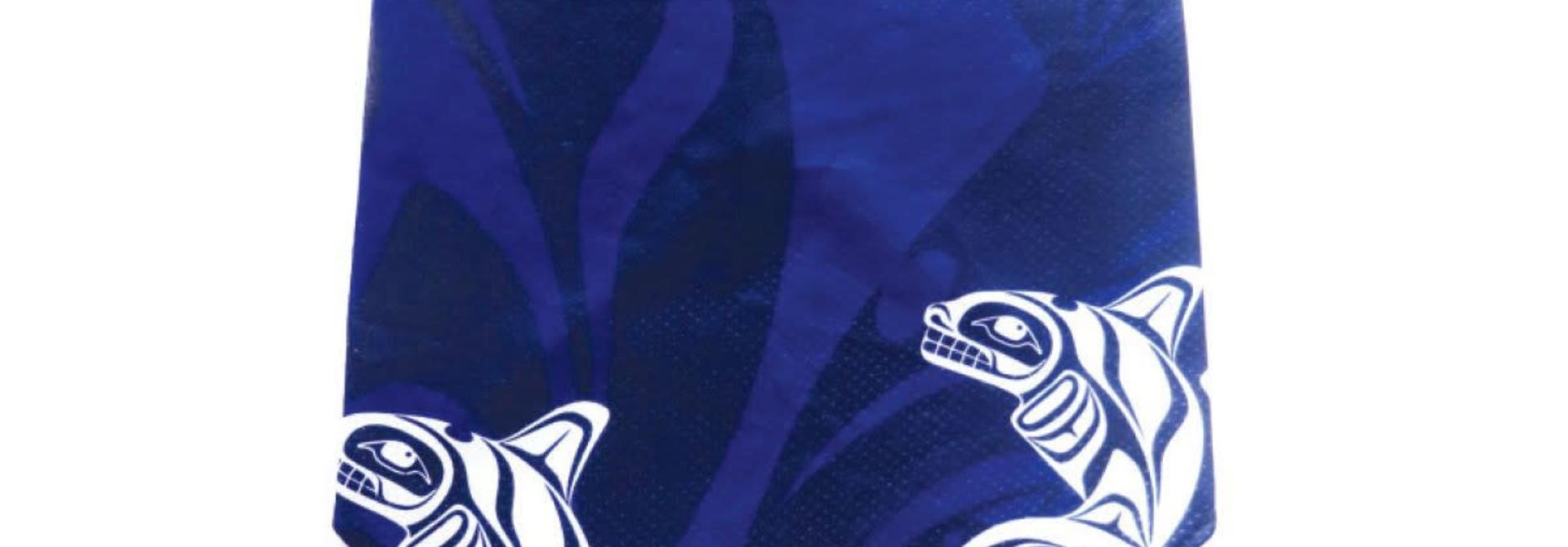 Bandana Gaiter with Ear Loops -Whale by Paul Windsor