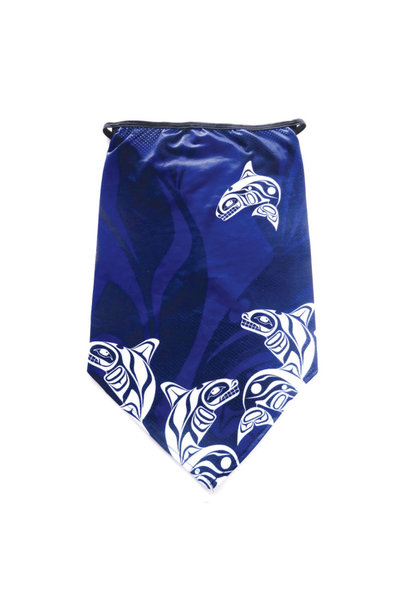 Bandana Gaiter with Ear Loops -Whale by Paul Windsor