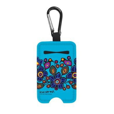 Sanitizer Bottle Holder- Birds & Flowers by Norval Morrisseau-1