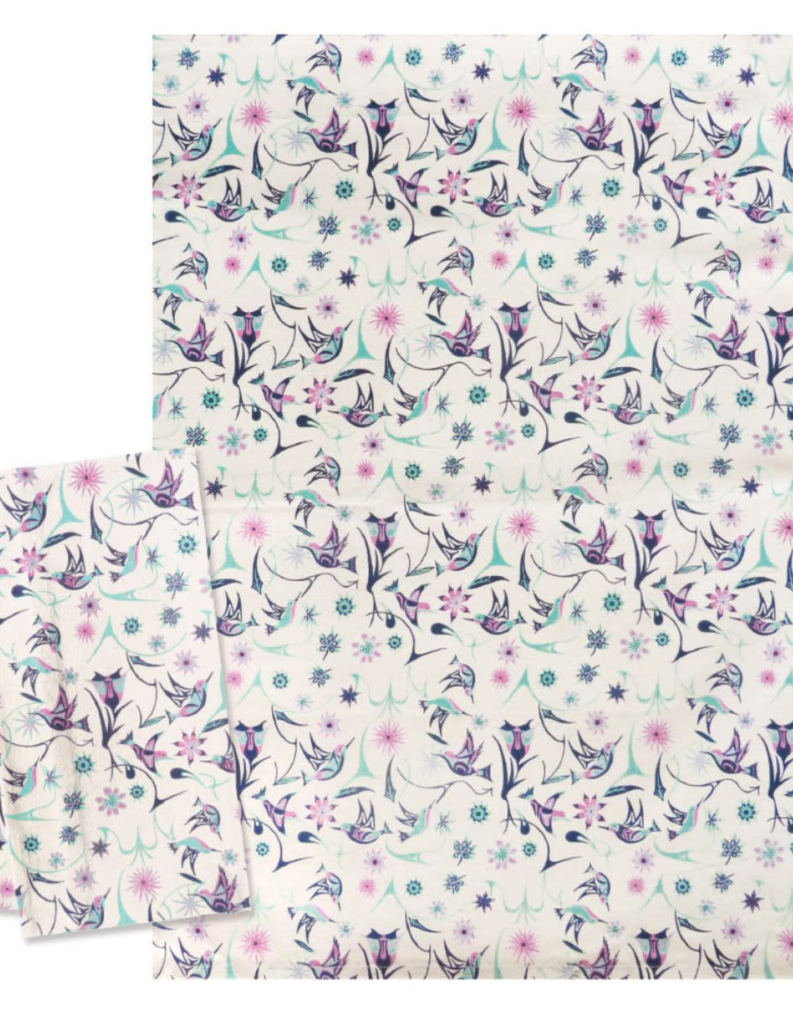 Tea Towel-Hummingbirds by Nicole LaRock