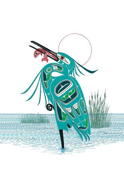 Art Trivet -Green Heron by Richard Shorty