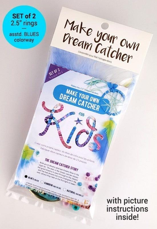 Kids make your own dream catcher kit-Blue-1