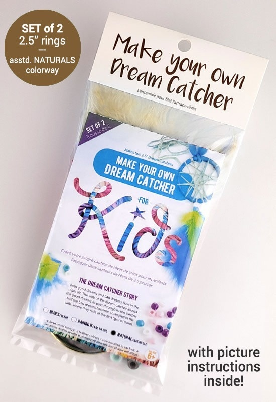 Kids Make your own dream catcher-Natural-1