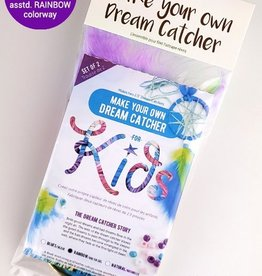 Kids make your own dream catcher kit- Rainbow