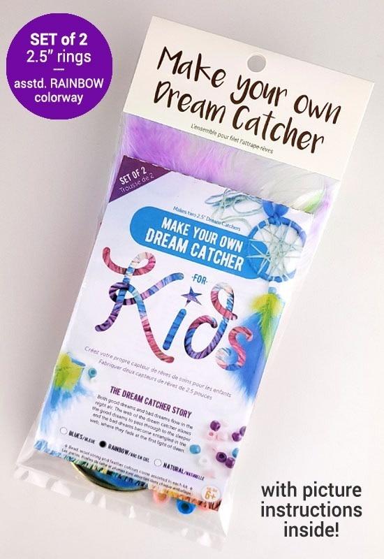 Kids make your own dream catcher kit- Rainbow-1