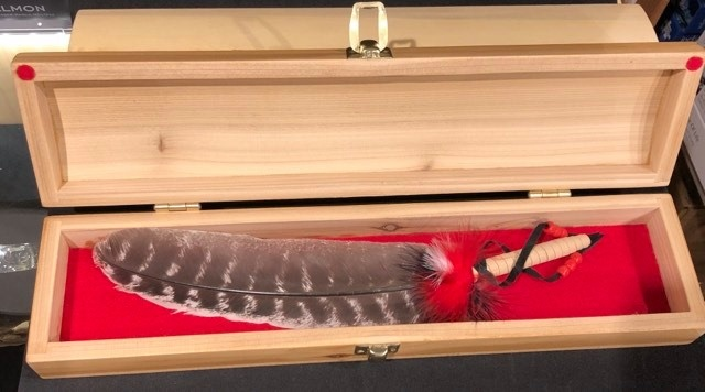 Handcrafted Feather Box - Red Cedar-1
