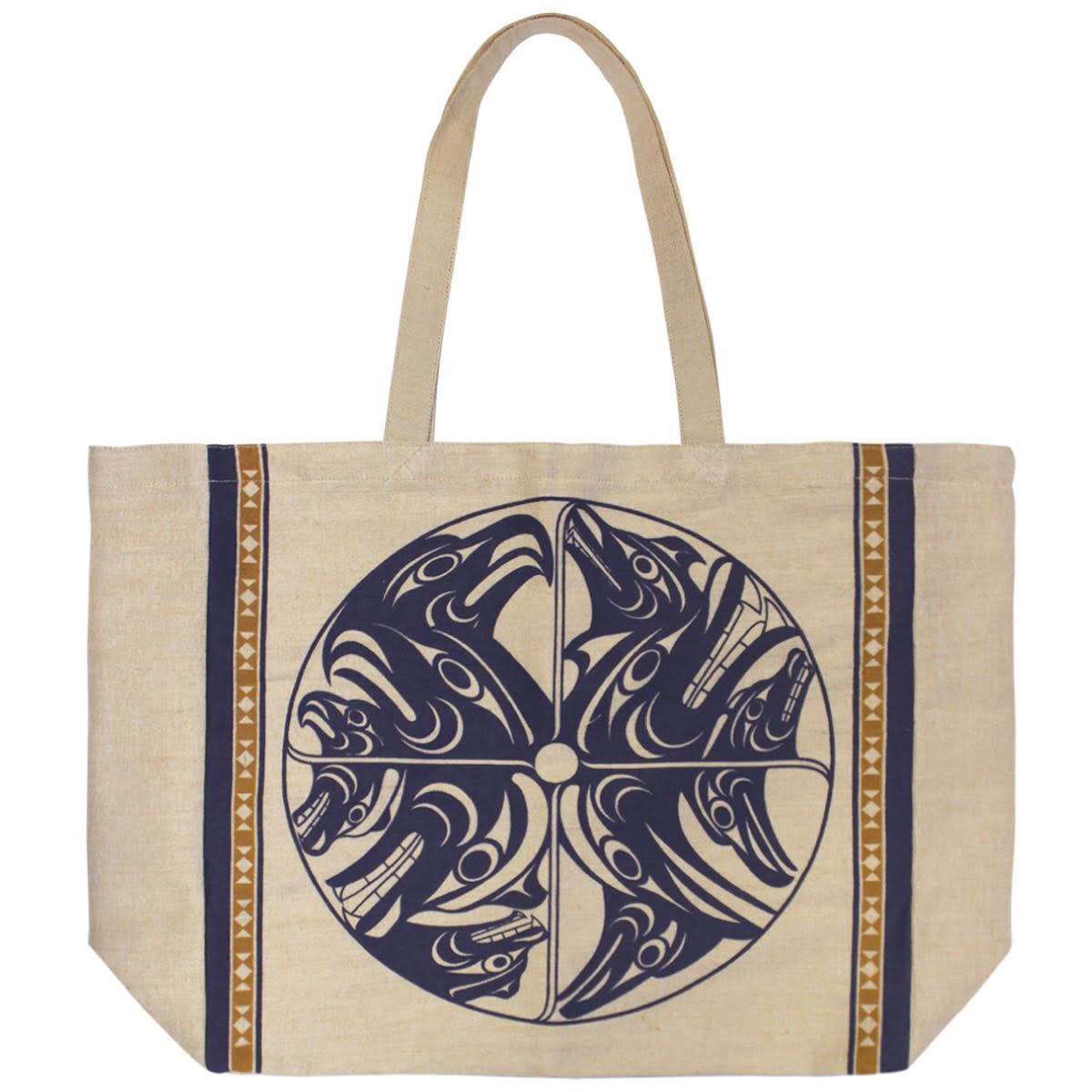 Jute Tote-Harmony by Francis Horne Sr.-1