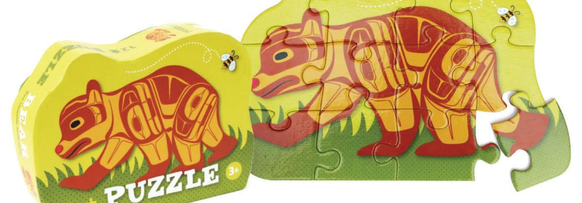 12 Piece Puzzle-Bear by Ben Houstie