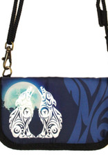 Crossbody Travel Wallet-Wolves by Darrell Thorne