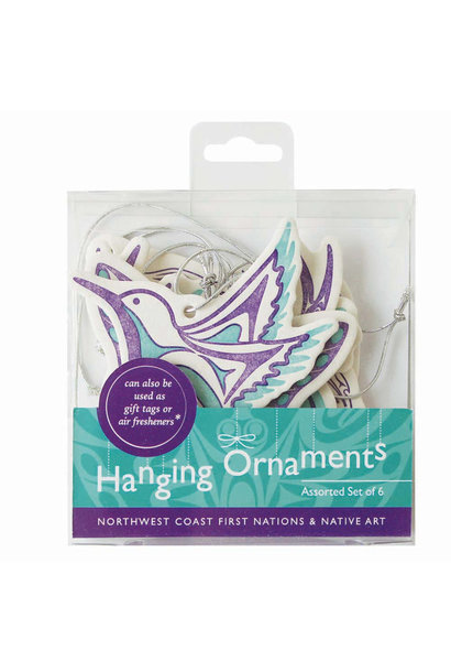 Set of 6 Hanging Ornaments- Assorted Artists