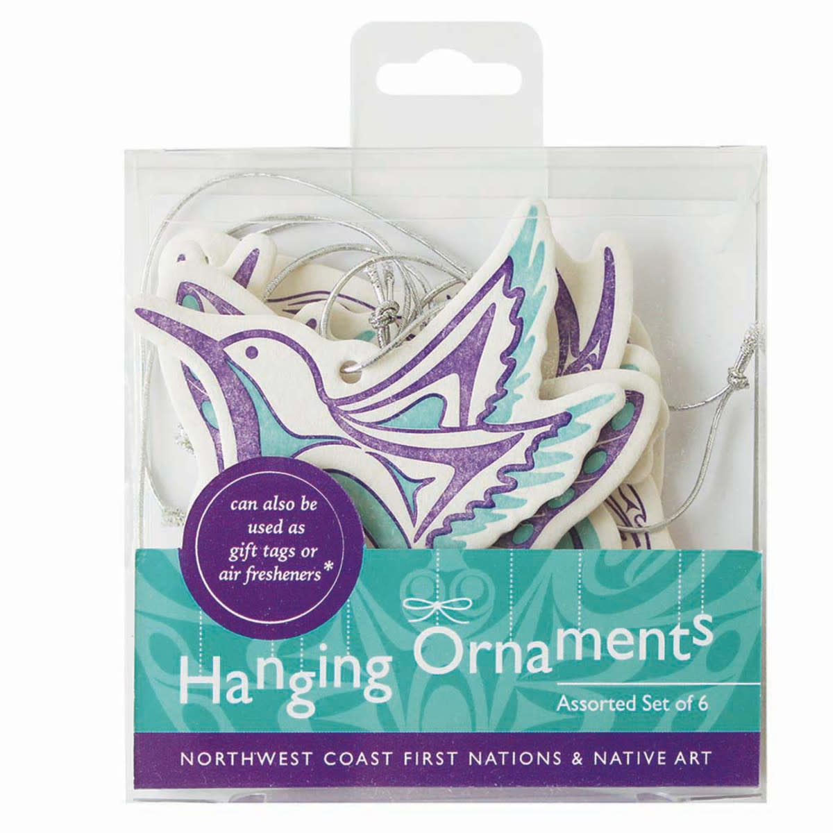 Set of 6 Hanging Ornaments- Assorted Artists-1