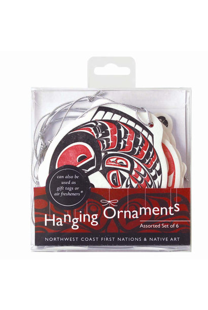 Set of 6 Hanging  Ornaments-Assorted Artists
