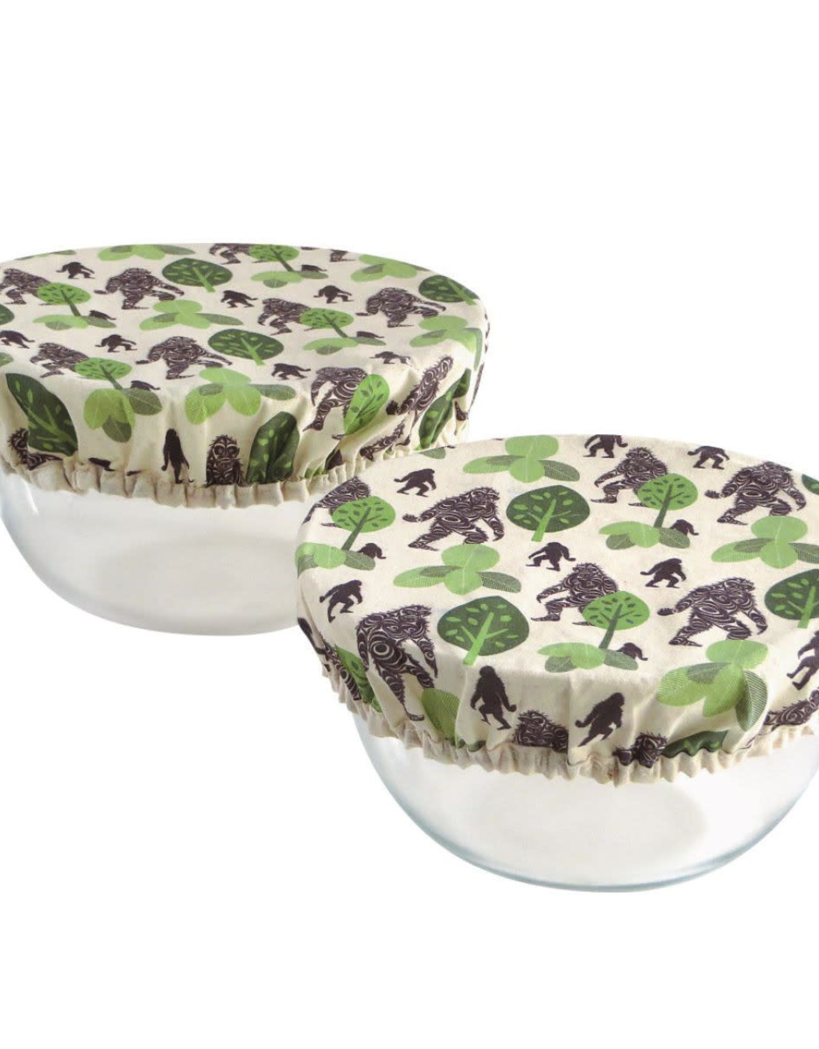 Set of 2 Reusable Bowl Covers Sasquatch by Francis Horne Sr.