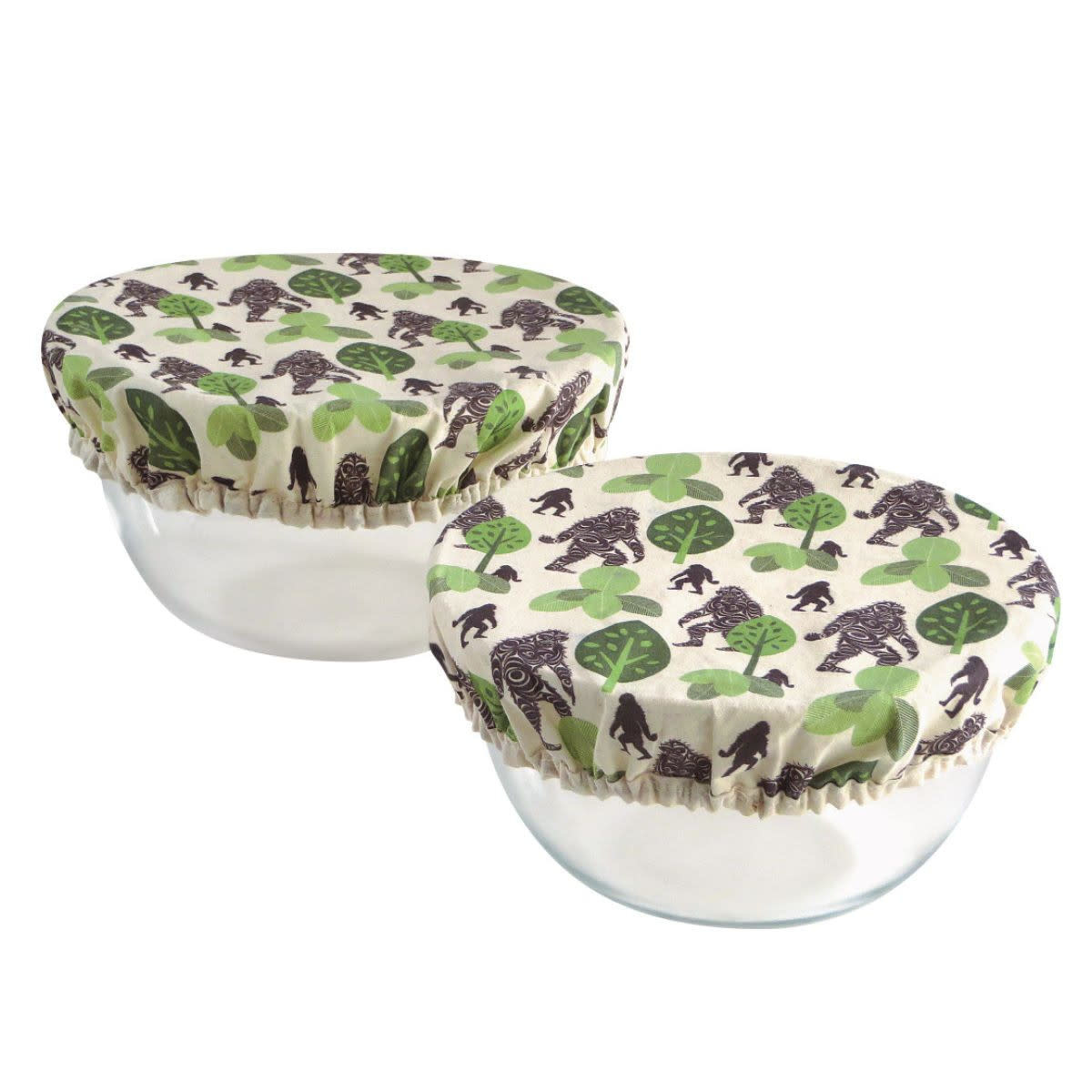 Set of 2 Reusable Bowl Covers Sasquatch by Francis Horne Sr.-1