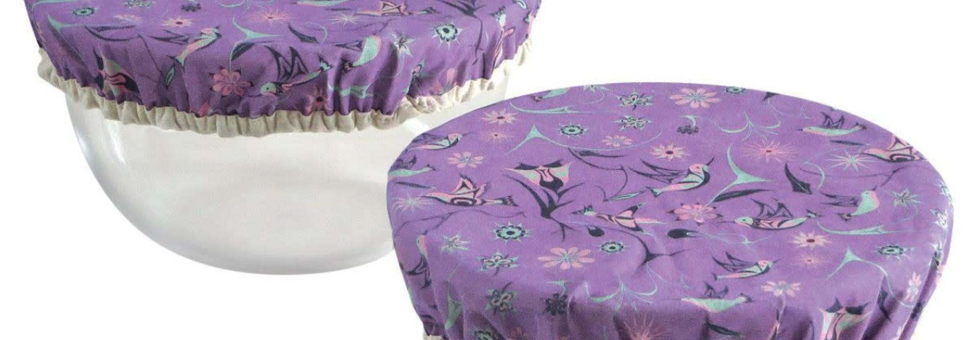 Set of 2 Reusable Bowl Covers-Hummingbird by Nikki LaRock