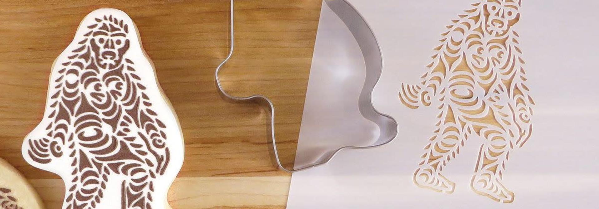 Cookie Cutter & Stencil Set-Sasquatch by Francis Horne Sr.