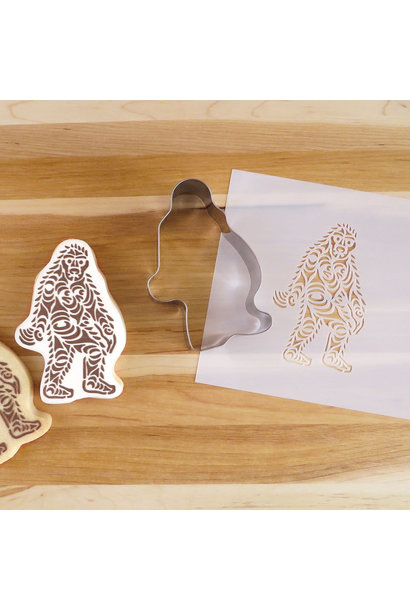 Cookie Cutter & Stencil Set-Sasquatch by Francis Horne Sr.