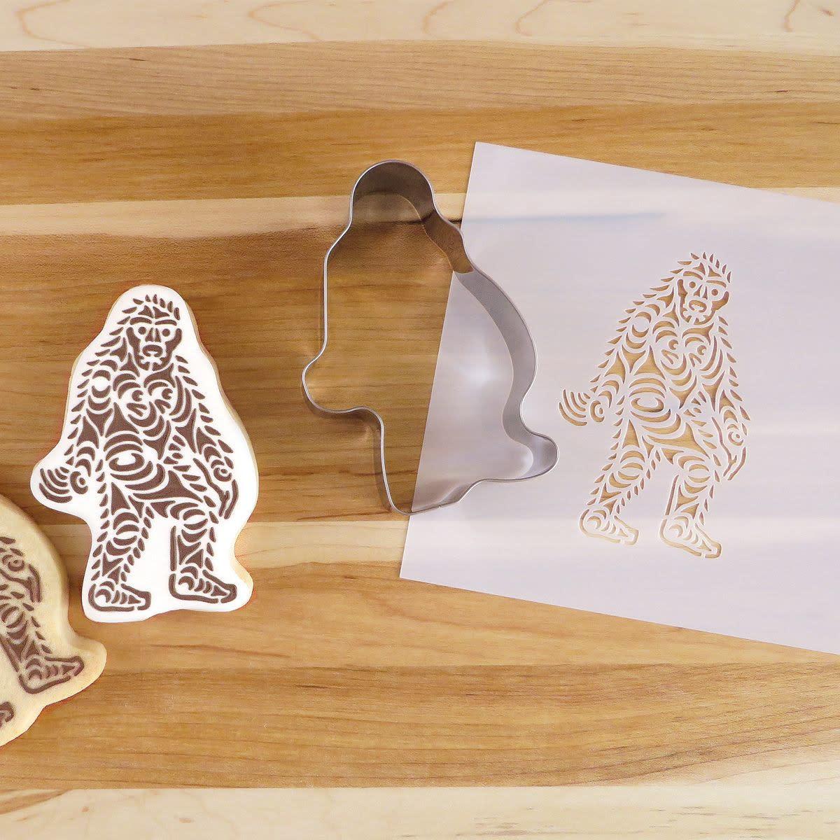 Cookie Cutter & Stencil Set-Sasquatch by Francis Horne Sr.-1