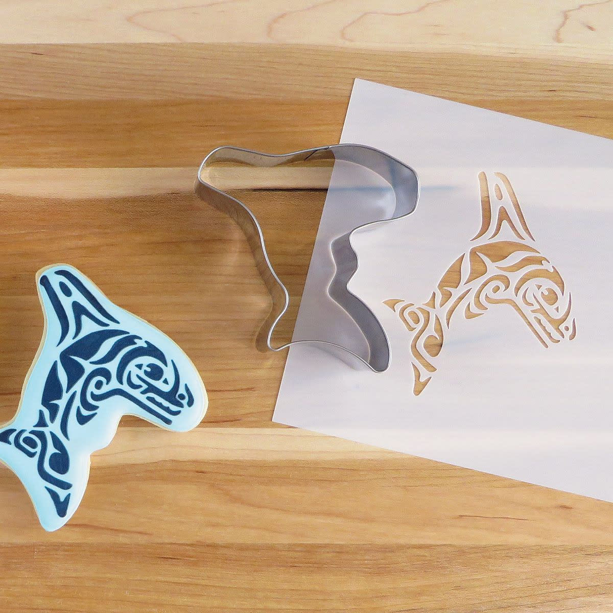 Cookie Cutter & Stencil Set-Orca by Paul Windsor-1