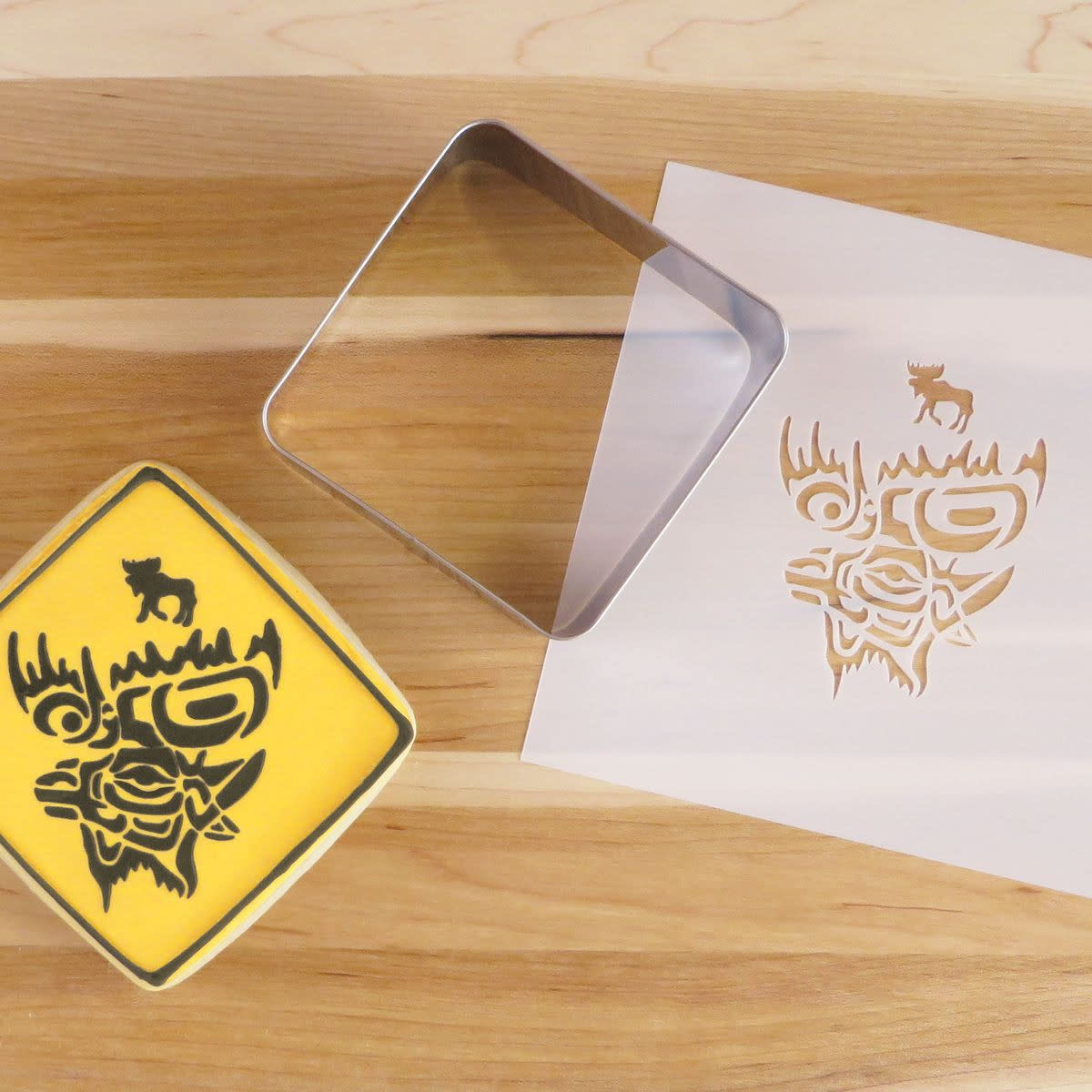 Cookie Cutter & Stencil Set-Moose Crossing by Terry Star-2