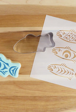 Cookie Cutter & Stencil Set Salmon in the Wild by Simone Diamond
