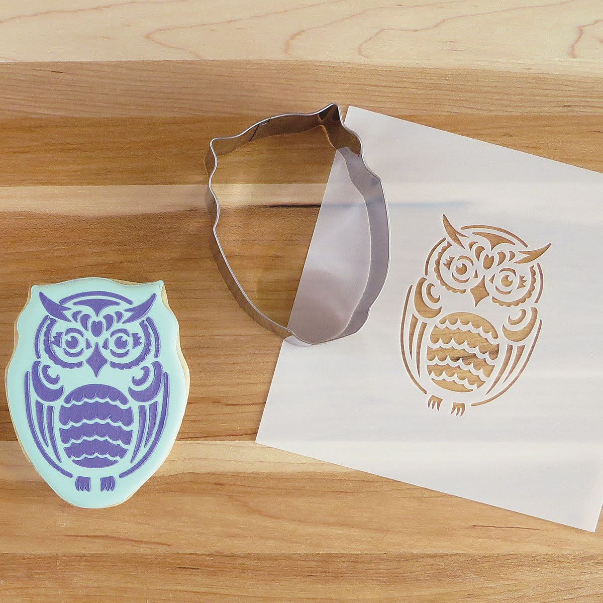 Cookie Cutter & Stencil Set-Owl by Simone Diamond-2