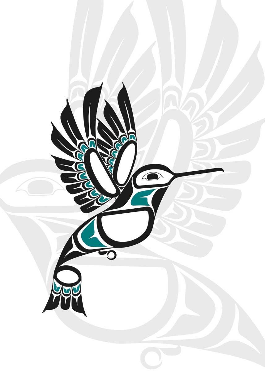 Art Card Hummingbird by Lon French-1