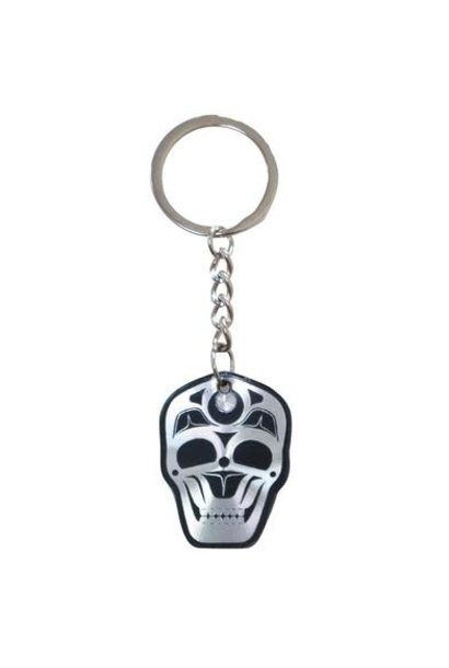 James Johnson Skull Metallic Key Chain