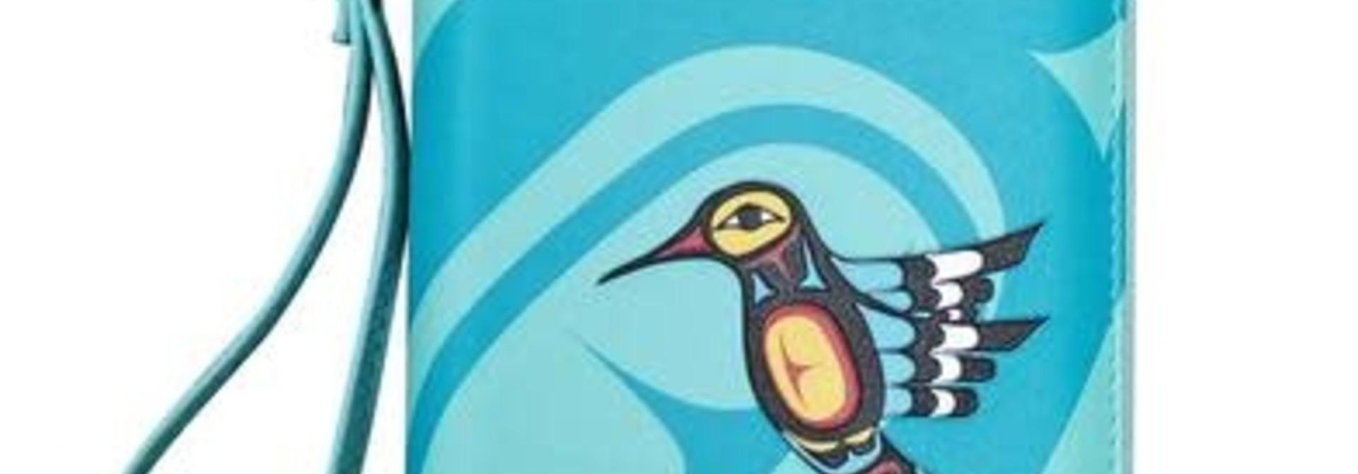 Travel Wallet-Hummingbird by Francis Dick