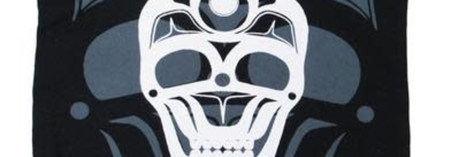 Eco Zipper Pouch - Skull by James Johnson