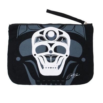 Eco Zipper Pouch - Skull by James Johnson-1